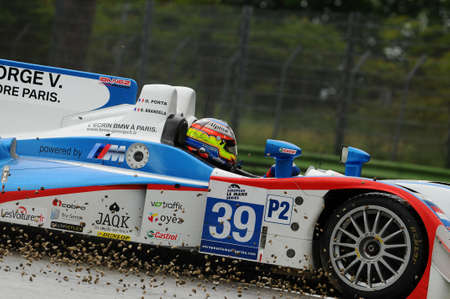 Imola, Italy May 17, 2013: Lola B11/40 - Judd of DKR Engineering Team, driven by O. PORTA / R. BRANDELA / B. DELHEZ, in action during the European Le Mans Series - 3 Hours - Imola, Italy