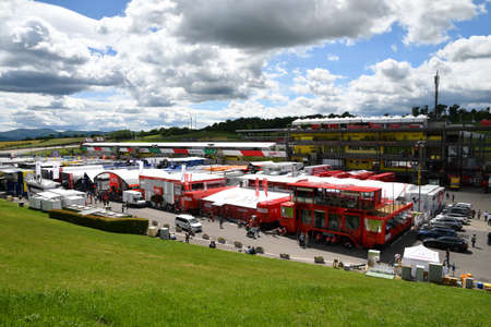 Scarperia, Mugello - Italy, May 31: Details of the paddock and the infrastructures of the Mugello Circuit on the occasion of the 2019 MotoGP GP event. Editorial