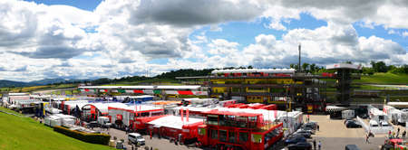 Scarperia, Mugello - Italy, May 31: Details of the Pitlane and the infrastructures of the Mugello Circuit on the occasion of the 2019 MotoGP GP event.