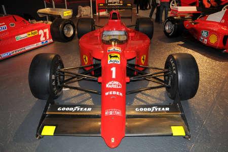 MUGELLO, IT, November, 2013: Ferrari F1 641/2 (F190) ex Alain Prost on display at Mugello Circuit in Italy during Finali Mondiali Ferrari 2013. Sajtókép
