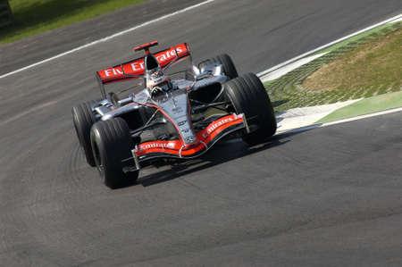 Imola, Italy - 23 April 2006: F1 World Championship. San Marino Grand Prix, Kimi Raikkonen in action on McLaren MP4-21 during practice.