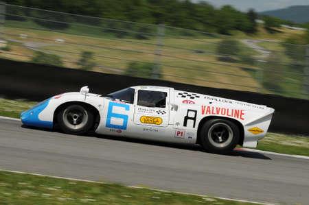 Mugello Historic Classic 25 April 2014: LOLA T70 Mk III B 1967 driven by Leo VOYAZIDES-Simon HADFIELD, during practice on Mugello Circuit, Italy.