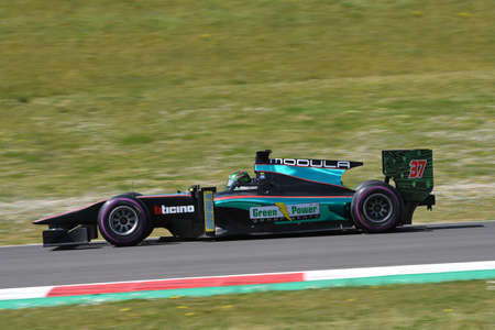 Scarperia, 9 April 2021: GP2 Formula driven by unknown in action at Mugello Circuit during BOSS GP Championship practice. Italy