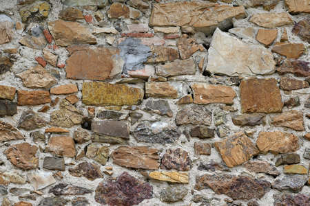 stone wall of old abandoned and dilapidated house in the Tuscan countryside in Italy Stock fotó - 167988573