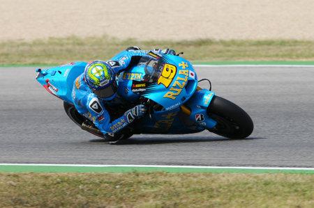 MISANO - ITALY, 2 September 2011: Spanish Suzuki rider Alvaro Bautista in action at 2011 San Marino GP. Italy Editoriali