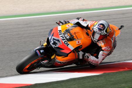 MISANO - ITALY, 2 September 2011: Italian Honda rider Andrea Dovizioso in action at 2011 San Marino GP. Italy