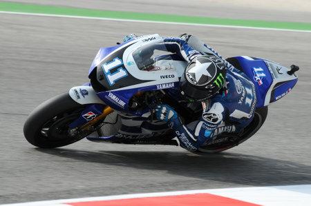 MISANO - ITALY, September 2, 2011: American Yamaha rider Ben Spies in action at 2011 San Marino GP. Italy