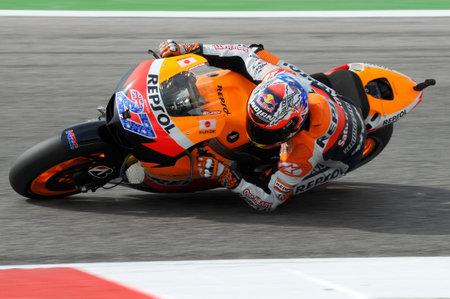 MISANO - ITALY, 2 September 2011: Australian Honda rider Casey Stoner in action at 2011 San Marino GP. Italy
