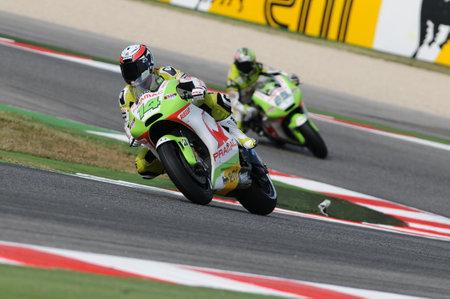 MISANO - ITALY, 2 September 2011: French Ducati Pramac rider Randy de Puniet in action at 2011 San Marino GP. Italy