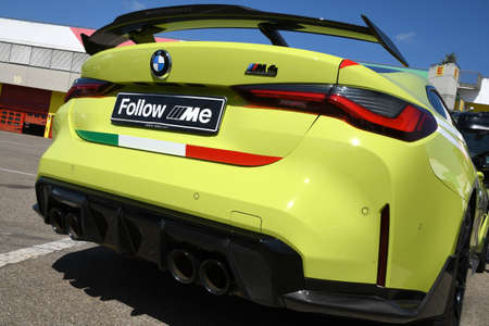 Mugello Circuit, IT, July 2021: BMW M4 Competition Coupé Safety Car in the Paddock of Mugello Circuit, Italy. Sajtókép