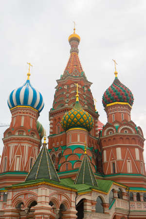 Cathedral of St. Vasily the Blessed in Moscow 写真素材 - 121471172