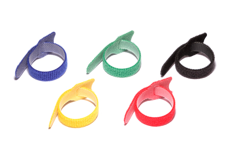 Colored cable organizer clamp