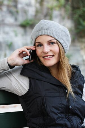 Woman on the Phone Stock Photo - 10888915