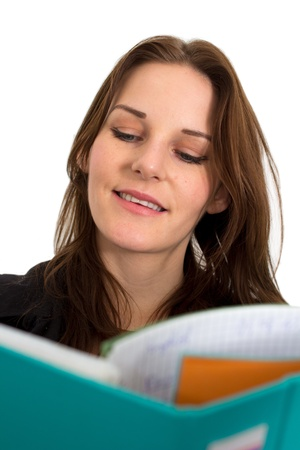 Young Female Student With A FolderBinder Smiling photo