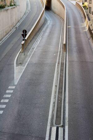 raod: A Road With Three Lanes Dividing