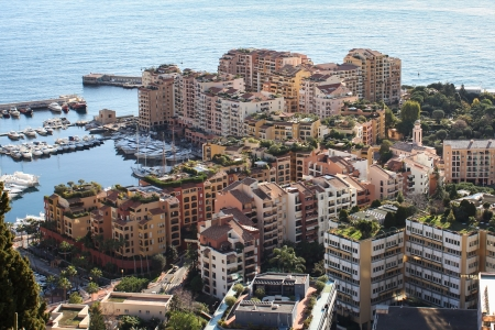 The city district of Frontvieille in Monte Carlo