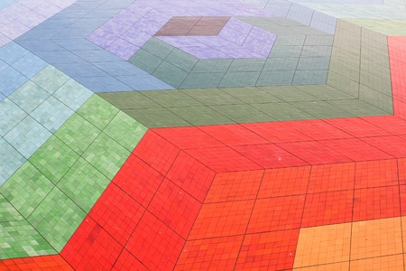 Colorful floor tiles with an extraordinary design photo