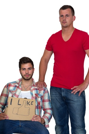 Two Friends Next to each other Stock Photo - 14750966