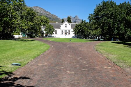 Building at the Lanzerac wine estate in Stellenbosch, South Africa