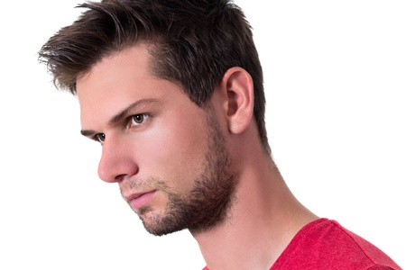 Face of a young brunette man Stock Photo - 14929630