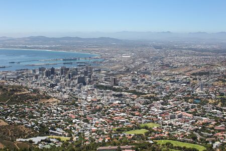 View of Cape Town from Lions Head, South Africa photo
