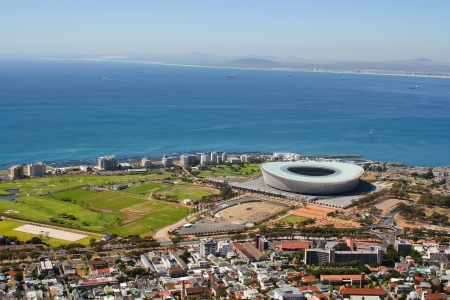View of Mouille Point with the cape town Stadium from Signal Hill