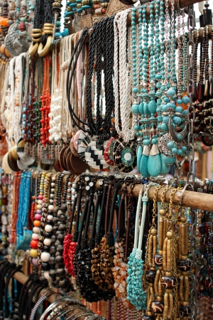cape town: Necklaces for sale at a market
