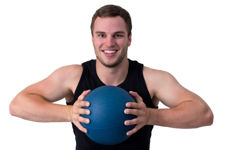 Young attractive fitness coach isolated on white Stock Photo - 16336980