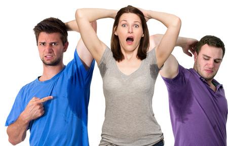 sudando: Compuesto de sudoraci�n personas