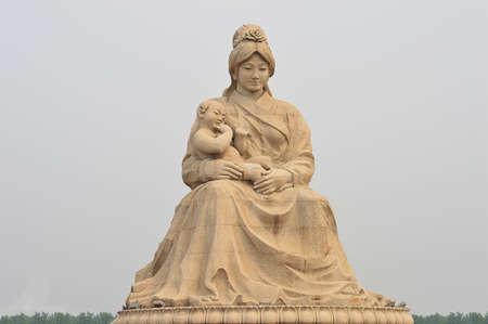 Sculpture at the Luan River