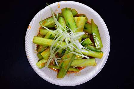 キュウリのサラダ 写真素材