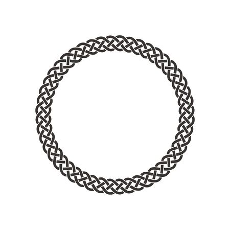 Circle celtic knot meander art vector Illusztráció