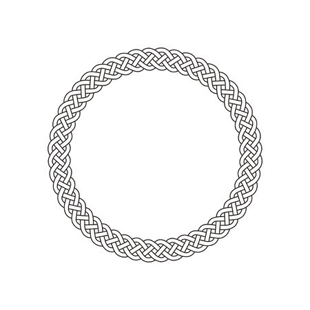 Circle celtic knot meander art vector  イラスト・ベクター素材