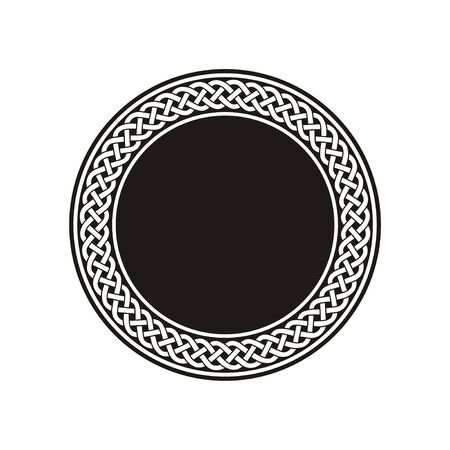 Circle celtic knot meander art vector Vettoriali