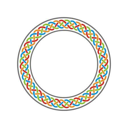 Vector de arte de meandro de nudo celta de círculo de color Ilustración de vector