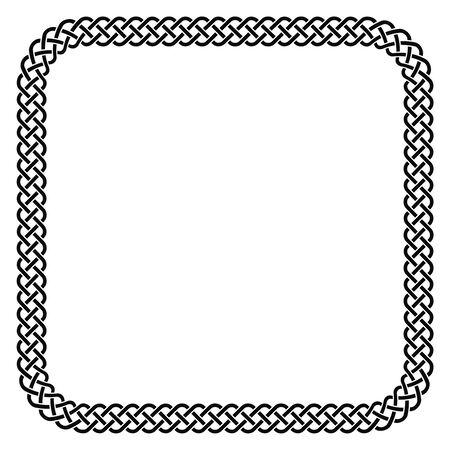 Square celtic knots vector frame medium Ilustração