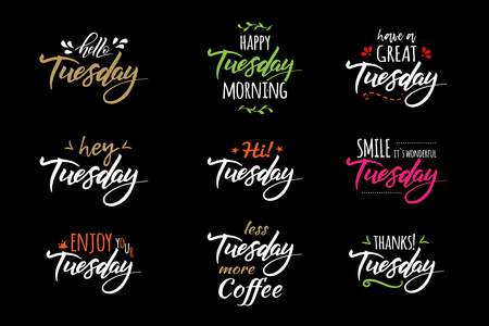 hello tuesday lettering