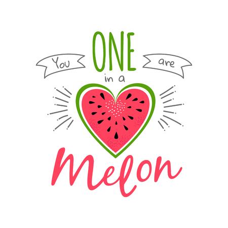 one in a melon girl print watermelon