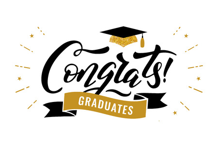 Congrats Graduates class of 2019 graduation congratulation party Stock Illustratie