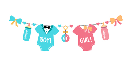 Gender reveal party,  baby shower, boy or girl Stock fotó - 120441415
