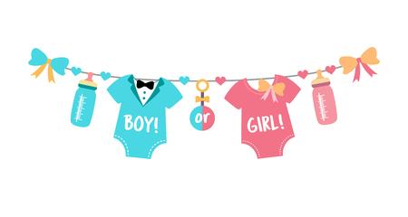 Gender Reveal Party, Babyparty, Junge oder Mädchen