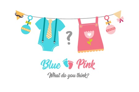 Gender reveal party,  baby shower, boy or girl