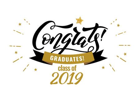 Gefeliciteerd Afgestudeerden klas van 2019 afstudeer felicitatie feest