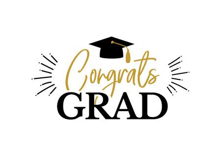 Congrats Graduates class of 2019 graduation congratulation party Illustration