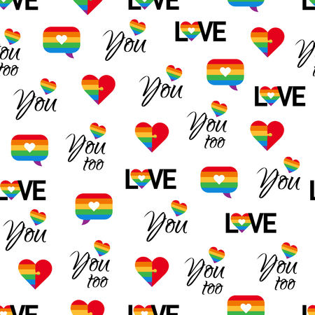 Gay pride seamless pattern LGBT vector background 向量圖像