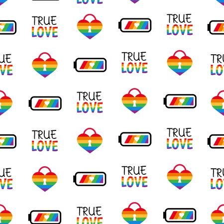 Gay pride lgbt vector seamless pattern background