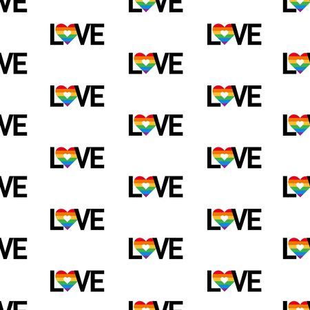 Gay lesbian pride vector seamless pattern background