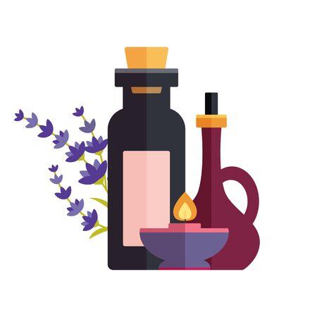 Holistic medicine sign and ayurveda logo illustration