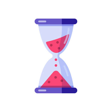 Hourglass sandglass clock time vector flat illustration 矢量图像