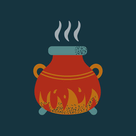 Witch cauldron cooking potion spell halloween pot 免版税图像 - 155730610